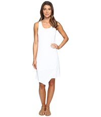 Mod O Doc Textured Slub Stripe Tank Dress White Women's Dress