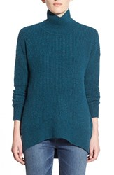 Women's Madewell 'Aria' Knit Turtleneck Heather Peacock