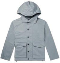 Albam Cotton Twill Hooded Parka Blue