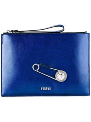 Versus Oversized Pin Clutch Blue
