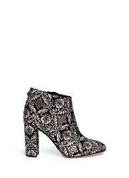 Sam Edelman 'Cambell' Floral Damask Ankle Boots Multi Colour
