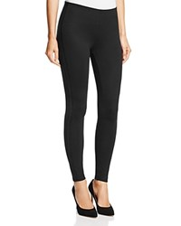 Hue Metallic Tuxedo Stripe Ponte Leggings Black