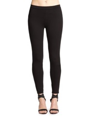 Joie Keena Solid Stretch Ponte Leggings Caviar