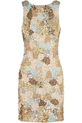 Alice Olivia Demi Embellished Tulle Dress Nude