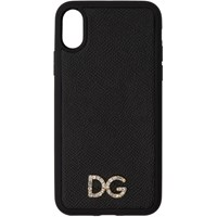 Dolce And Gabbana Black Crystal Iphone X Case