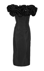 Brock Collection Desiree Off The Shoulder Lightweight Taffeta Dress Black