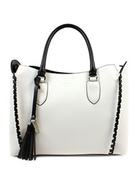 London Fog Whitby Vegan Leather Satchel White