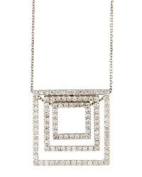 Diana M. Jewels 18K Layered Diamond Square Pendant Necklace 1.06Tcw