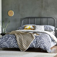 Scion Kukkia Duvet Cover Ink And Charcoal Blue