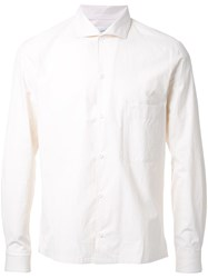Christophe Lemaire Spread Collar Shirt White
