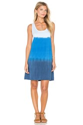 Michael Stars Sunset Wash Scoop Neck Tank Dress Blue