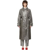Ports 1961 Grey Check Trench Coat