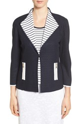 Ming Wang Women's Drape Collar Knit Jacket