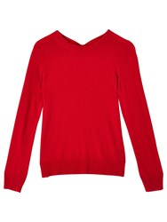 Precis Petite Taylor Bow Back Jumper Mid Red