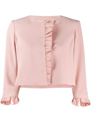 Liu Jo Ruffle Trim Cropped Jacket 60