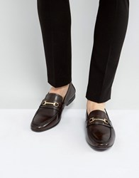 Kg By Kurt Geiger Melton Loafers In Brown Leather