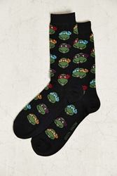 Urban Outfitters Teenage Mutant Ninja Turtle Sock Black Multi