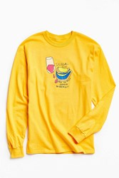 Illegal Civilization Learn The Rules Long Sleeve Tee Yellow