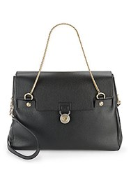 Versace Grained Leather Tote Black