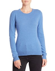 Lord And Taylor Basic Crewneck Cashmere Sweater Arctic Heather