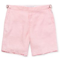 Orlebar Brown Norwich Slim Fit Linen Shorts Pink