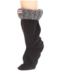 Hunter 6 Stitch Cable Boot Sock Short Black Grey Women's Crew Cut Socks Shoes