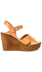 Seychelles Provision Wedge In Brown. Cognac Leather