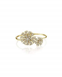 Maria Canale For Forevermark Aster 18K Yellow Gold Hinged Blossom Bracelet With Diamonds