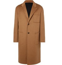 Berluti Oversized Double Faced Cashmere Coat Camel