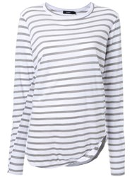 Bassike Striped Scoop Neck T Shirt Green