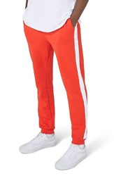 Topman 'S Side Tape Skinny Fit Jogger Pants Red Multi