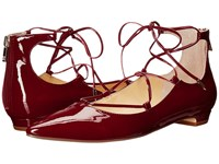 Ivanka Trump Tropica Dark Red Patent Women's Flat Shoes