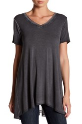 Cable And Gauge Enzyme Wash Mesh Back Tee Gray
