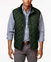 Club Room Men's Big And Tall Zip And Snap Quilted Vest Only At Macy's Duffle Bag