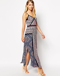 Oasis Aztec Scarf Maxi Dress Multi