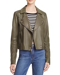 Paige Roanna Leather Moto Jacket Army