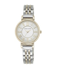Anne Klein Mixed Metal Chain Link Watch Two Tone