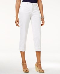Jm Collection Capri Jeans Only At Macy's Bright White