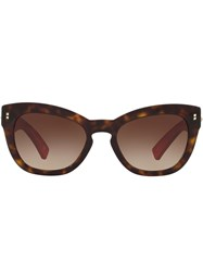 Valentino Eyewear Garavani Cat Eye Sunglasses Brown