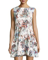 French Connection Printed Sleeveless Fit And Flare Dress Day Dream Multi