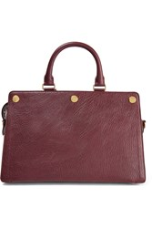 Mulberry Chester Textured Leather Tote Burgundy