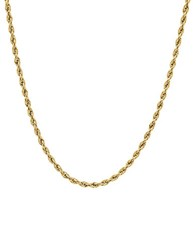 Lord And Taylor 14K Yellow Gold Glitter Ultimate Rope Chain Link Necklace 18In