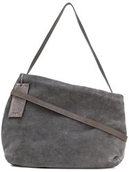 Marsell Classic Shoulder Bag Women Leather One Size Grey