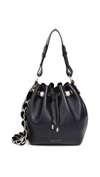 Mother Of Pearl Bernie Medium Bucket Bag Black