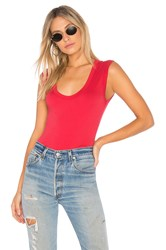 Velvet By Graham And Spencer Estina Scoop Neck Tank Red