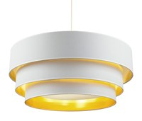 Lights Up Deco Deluxe 30 Inch Pendant 9275Bn Mwg Metallic White And Gold