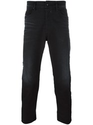 Diesel Classic Cropped Jeans Black