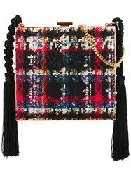 Alessandra Rich Tasseled Boucle Clutch