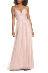 Hayley Paige Occasions 'S English Net Gown Dusty Rose