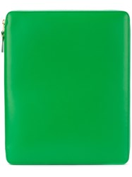 Comme Des Garcons Wallet Zip Around Pouch Women Calf Leather One Size Green